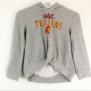 USC Trojans Ruched front Grey  girls Hoodie XS